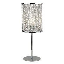 ELISE 1LT TABLE LAMP, CHROME , CRYSTAL DROPS