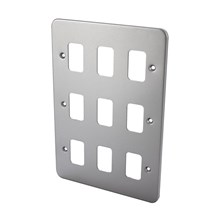 9 Gang Metal Clad Front plate