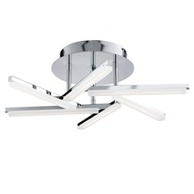 LINA  LED 6 ARM CEILING SEMI-FLUSH, CHROME, FROSTED ACRYLIC