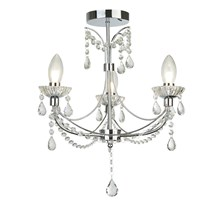 AUTUMN 3LT BATHROOM CHANDALIER, CHROME WITH CRYSTAL GLASS
