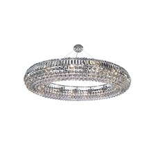 VESUVIUS OVAL 24LT CEILING, CHROME WITH CLEAR K9 COFFINS TRIM & K5 BALL DROPS
