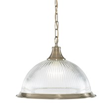 AMERICAN DINER - 1LT PENDANT, ANTIQUE BRASS, CLEAR GLASS
