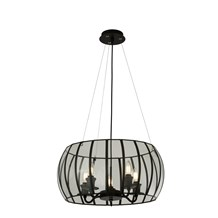 PENDANT 5LT BOUND GLASS  BLACK/CLEAR