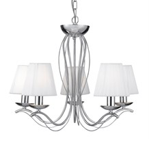 ANDRETTI - 5LT CEILING, CHROME, WHITE STRING SHADES