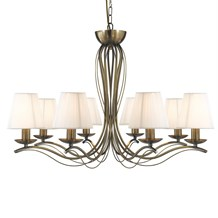 ANDRETTI - 8LT CEILING, ANTIQUE BRASS, CREAM STRING SHADES