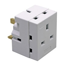 Adaptor 13Amp 3 Way Fused