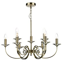Allegra 9 Light Dual Mount Pendant Antique Brass