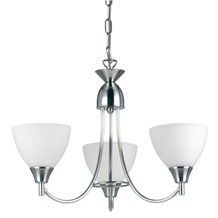 Alton Satin Chrome 3lt pendant 60W Endon 1805-3SC