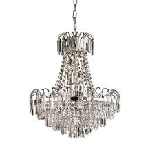 Amadis Glass Chandelier 6lt pendant 40W Endon 96826-CH