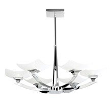 Ayres Chrome Scavo Glass Effect Shades 6lt Semi Flush 33W Endon AYRES-6CH