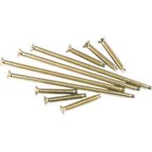 M3.5 x 75mm Slotted Brass Plate Screw