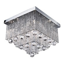 Beatrix Chrome 5 Light Fitting With Crystal Drops