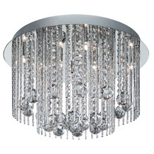 Beatrix Chrome 8 Light Fitting With Crystal Drops