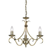 Bernice Antique Brass 3 Light Pendant E14 3 x 60W Endon 2030-3AN