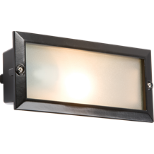 BL01BK IP44 E27 Bricklight with Plain and Louvred Black Cover