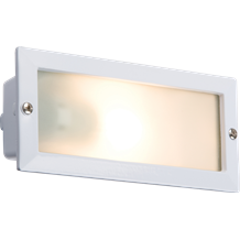 IP44 E27 Bricklight with Louvred and Plain White Cover