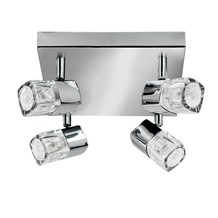 Blocs Chrome 4 Light Spotlight With Ice Cube Glass