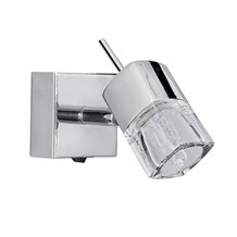 Blocs Chrome Wall Spotlight With Ice Cube Glass