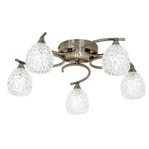 Boyer Antique Brass 5 Light Semi Flush G9 33W Endon BOYER-5AB