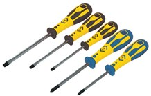 C.K Dextro Screwdriver Slotted & PZD Set Of 5