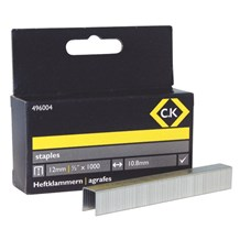 C.K Staples 10.5mm wide x 12mm deep Box Of 1000