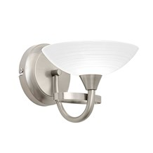 Cagney Satin Chrome 1 Light Wall G9 33W Endon CAGNEY-1WBSC