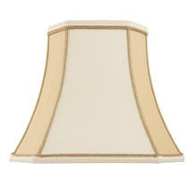 Camilla Shade Two Tone Cream Faux Silk 12 inch Endon CAMILLA-12