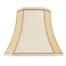Camilla Shade Two Tone Cream Faux Silk 14 inch Endon CAMILLA-14