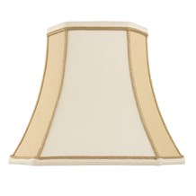 Camilla Shade Two Tone Cream Faux Silk 16 inch Endon CAMILLA-16