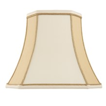 Camilla Shade Two Tone Cream Faux Silk 18 inch Endon CAMILLA-18