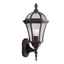 CAPRI - 1LT OUTDOOR W/BRACKET (UP LIGHT), RUSTIC BROWN, CLEAR GLASS
