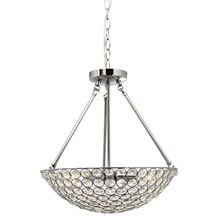 Chantilly Chrome 4 Light Fitting With Clear Crystal Buttons