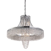 Chelsea Chrome 5 Light Chandelier With Clear Crystal Drops