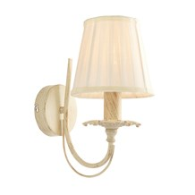 Chester Brushed Gold Effect Finished in Cream 1 Light Wall Bracket Endon 60929