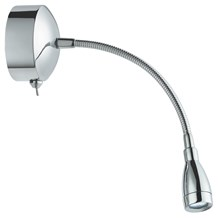 Chrome Flexible 6 Led Picture Light With Flexible Chrome Cable