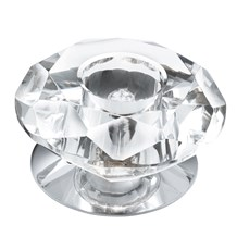 Chrome Surface Downlighter With Clear Diamond Shaped Glass