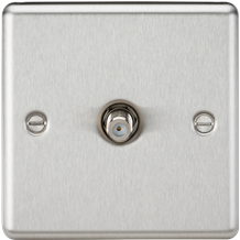 CL015BC Sat TV Outlet - Rounded Edge Brushed Chrome