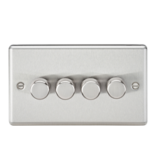 CL2184BC 4G 2 way 10-200W (5-150W LED) trailing edge dimmer - Rounded Edge Brush
