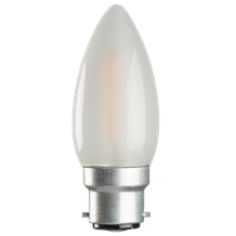 230V 4W LED 35mm BC Frosted Candle 3000K