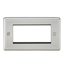 CL4GBC 4G Modular Faceplate - Rounded Edge Brushed Chrome