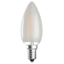 230V 4W LED 35mm SES Frosted Candle 3000K