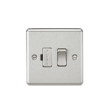 CL63BC 13A Switched Fused Spur Unit - Rounded Edge Brushed Chrome