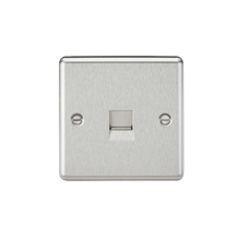 Telephone Extension Outlet - Rounded Edge Brushed Chrome