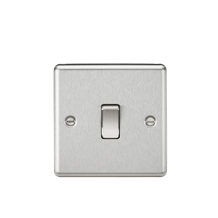 CL834BC 20A 1G DP Switch - Rounded Edge Brushed Chrome