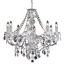 Clarence Acrylic Beads & Droplets 8 Light Pendant Chandelier 60W Endon 308-8CL