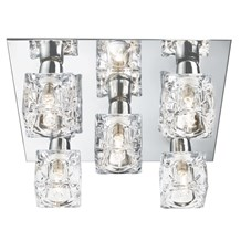 Cool Ice Chrome 5 Light Square Fitting With Ice Cube Glass