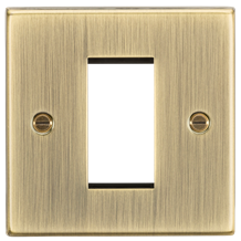 CS1GAB 1G Modular Faceplate - Square Edge Antique Brass