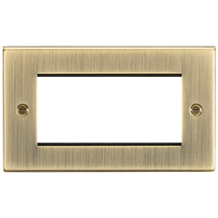 CS4GAB 4G Modular Faceplate - Square Edge Antique Brass
