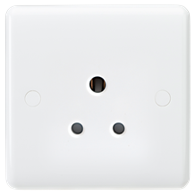 Curved Edge 5A Unswitched Round Pin Socket