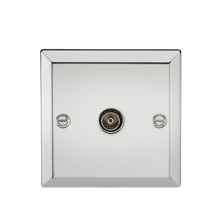 TV Outlet (non-isolated) - Bevelled Edge Polished Chrome